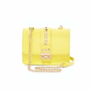 BCBG | Yellow Stud Caviar Bag